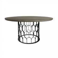 Gatsby Concrete and Metal Round Dining Table