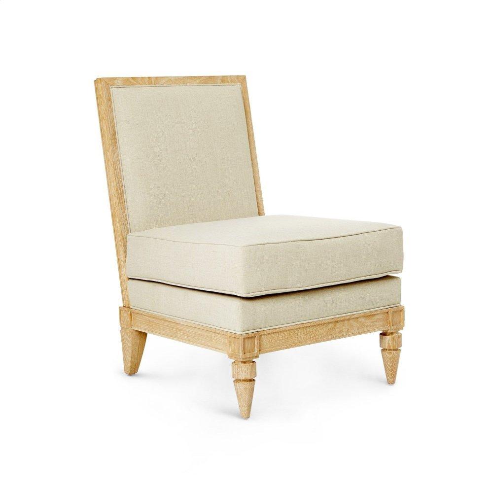 Devon Slipper Chair, Natural