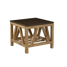Old Fir and Bluestone Side Table