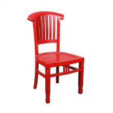 CC-CHA006LD-RD-2  Distressed Red Slat Back Chair  Set of 2