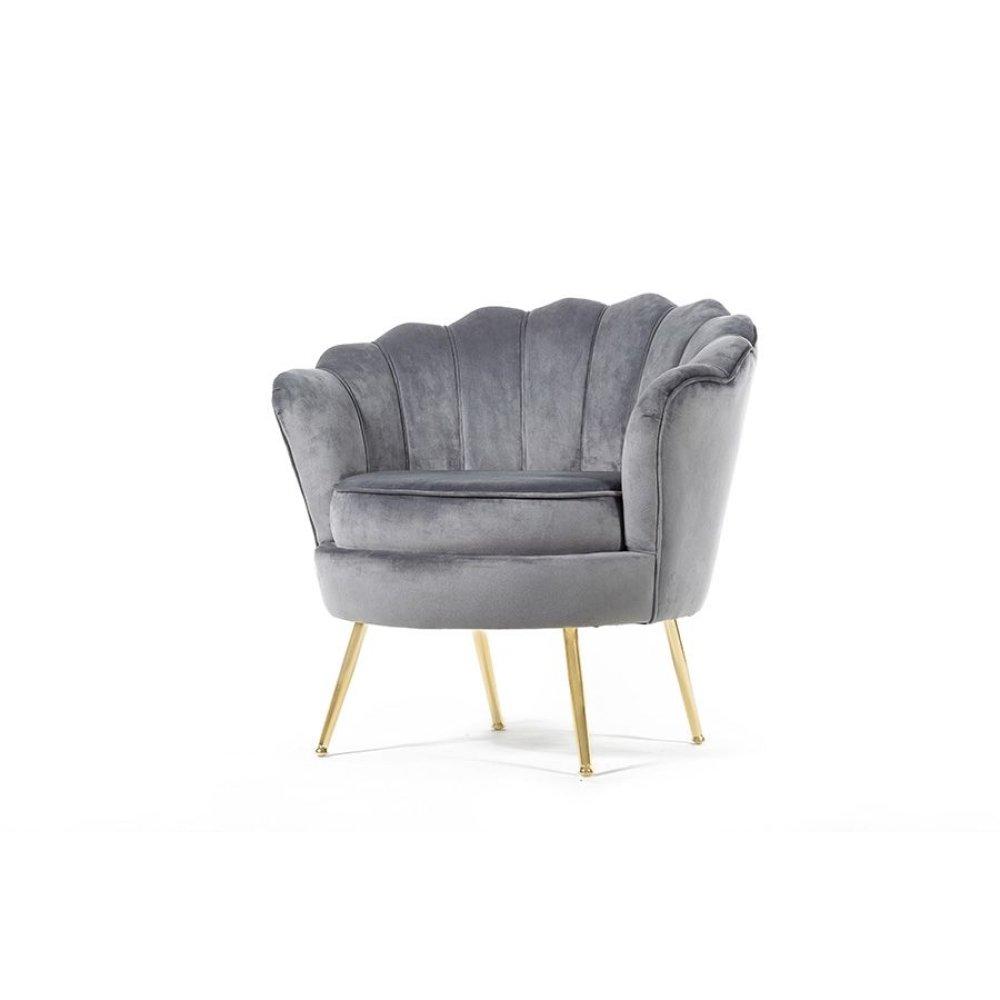 Fleur Gray Accent Chair, AC1834