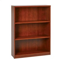 """36wx12dx48h 3-shelf Bookcase With 1"""" Thick Shelves"""