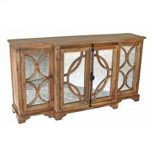 Antique Mirrored Door Cabinet