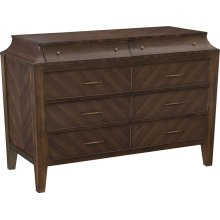 Scalloped Santos Rosewood Chest