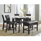 "Carrara Black PU Counter Chair 19"" x 27"" x 40"" Product Image"