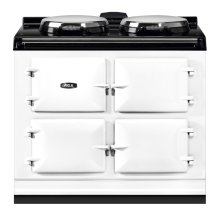 "AGA Dual Control 39"" Electric/Natural Gas White with Stainless Steel trim"