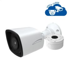 4MP H.265 Bullet IP Camera with Junction Box, 2.8mm fixed lens, White Housing
