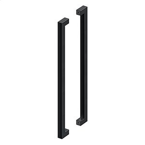 """36"""" Extra Large Contemporary Pulls, Back-to-Back - Paint Black Product Image"""