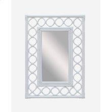 (LS) Savannah Rectangular Mirror - White (26x2x36)