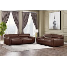 SU-AX6816-SL  Leather 2 Piece Living Room Set  Sofa  Loveseat  Brown