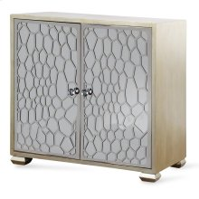 Honeycomb Mirrored Two Door Cabinet  34in X 36in X 17in  Two Door Cabinet