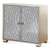 Honeycomb Mirrored Two Door Cabinet  34in X 36in X 17in  Two Door Cabinet