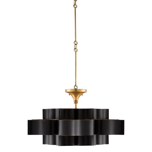 Grand Lotus Black Large Chandelier
