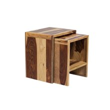 Sheesham Accents Nesting Tables, PDU-07