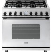 "Range NEXT 36"" Classic Stainless steel 6 gas, gas oven"