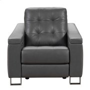 Parker Tufted Leather Power Recliner in Storm Grey Product Image