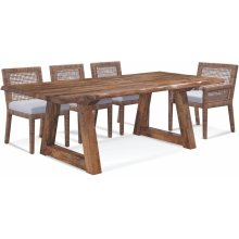"""Bellport 82"""" Live Edge Dining Table"""