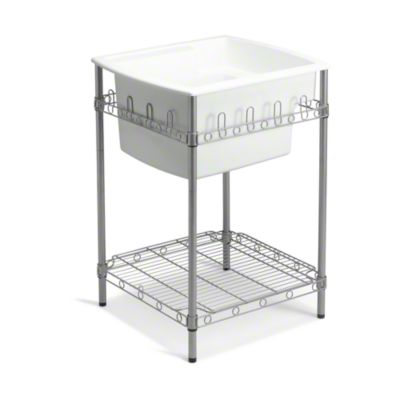 """Latitude® Utility Sink with Stand, 25"""" x 22"""" x 36"""" (Basin Depth is 12"""") - White"""