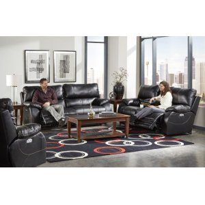 Power Headrest Power Lay Flat Reclining Console Loveseat