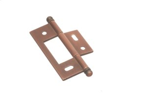 """2 1/2"""" x 7/8"""" Non Mortised Hinge - Distressed Antique Copper Product Image"""