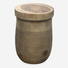Flores Wood Accent Table - Greywash