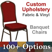 Custom Crown Back Banquet Chair with Gold Vein Frame - Choose from OVER 100 Custom Fabrics and Vinyls