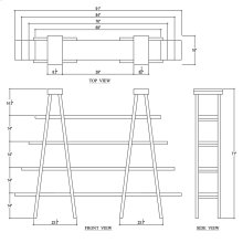 Taylor Double Ladder Shelf