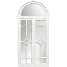 White Farmhouse Arch Mirror  54in X 25in X 2in  Framed Wall Mirror