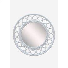 Savannah Round Mirror - White (35x2x35)