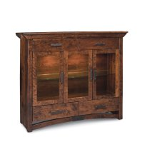 B&O Railroade Trestle Bridge 3-Door Dining Cabinet