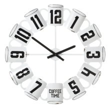 Enamel Coffee Cup Wall Clock