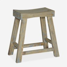"24"" Vintage Style Counterstool - Vintage Grey..(18x10x24)"