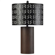 BK314763  Berkley  Bryan Keith Branded  Metal Table Lamp  150W  3-Way  Lazer Cut Metal Layered Shade
