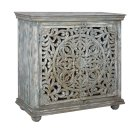 Bengal Manor Mango Wood Carved 2 Door Cabinet Product Image