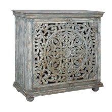 Bengal Manor Mango Wood Carved 2 Door Cabinet