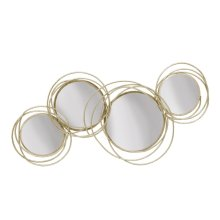 Looped Gold 4 Circle Mirrors,wb