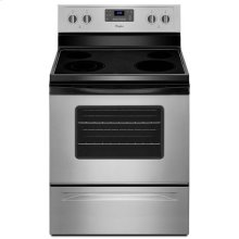 Whirlpool® 5.3 Cu. Ft. Freestanding Electric Range with Easy Wipe Ceramic Glass Cooktop - Universal Silver