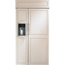 "Monogram 42"" Smart Built-In Side-by-Side Refrigerator with Dispenser"