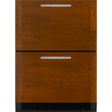 "Double-Refrigerator Drawers, 24""(w), Custom Overlay"