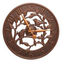 """Woodridge 16"""" Indoor Outdoor Wall Clock - Antique Copper"""