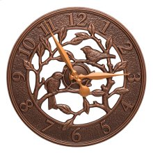 "Woodridge 16"" Indoor Outdoor Wall Clock - Antique Copper"