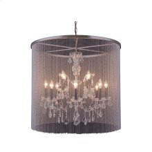 "1131 Brooklyn Collection Chandelier D:31.5"" H:28"" Lt:12 Dark Grey Finish (Royal Cut Crystals)"