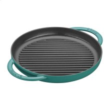 """Staub Cast Iron 10"""" Pure Grill, Turquoise"""