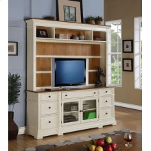 Entertainment Console Linen & Cashew