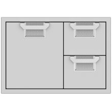 Double Drawer and Storage Door Combination, 30""
