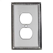 Single Duplex Arlington Switch Plate - Satin Nickel