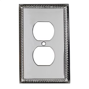 Single Duplex Arlington Switch Plate - Satin Nickel Product Image