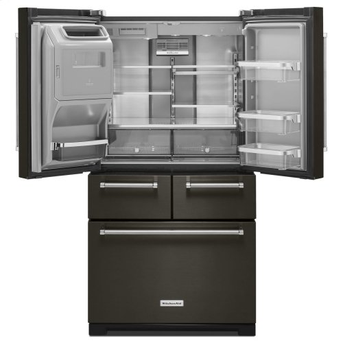 "25.8 Cu. Ft. 36"" Multi-Door Freestanding Refrigerator with Platinum Interior Design - Black Stainless"