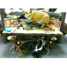 Fireside Bench with Antler Product Image