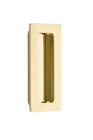 """Flush Pull - Modern Rectangular Brass 4"""" Product Image"""